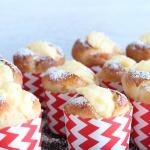 Muffins mit Pudding – Hefemuffins mit Vanillepudding