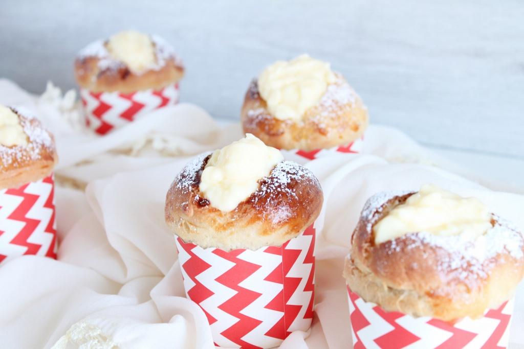 Muffins mit Pudding