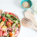Wassermelonensalat mit Sesam