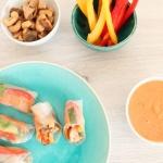 Sommerrolls mit Hähnchen und Erdnuss-Soße