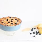 Frühstücksauflauf mit Quark und Dinkelgrieß