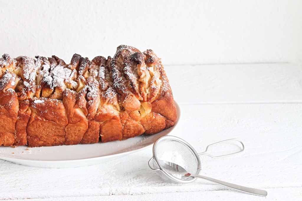 pulled apart bread