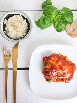 auberginenauflauf, gemüseauflauf, vegetarischer auflauf