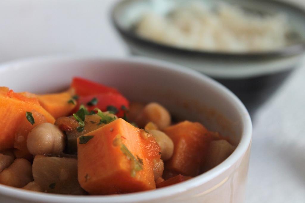 schneller Eintopf, vegetarischer Eintopf, Süßkartoffeleintopf, schneller Süßkartoffeleintopf