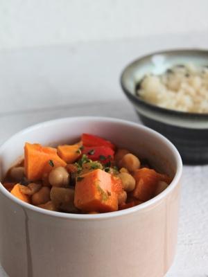 schneller Eintopf, vegetarischer Eintopf, Süßkartoffeleintopf