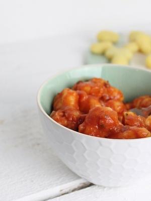 schnelle gnocchi mit Tomatensauce