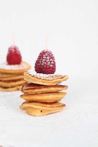 Pancaketürmchen, Minipancakes, Muttertagsfrühstück