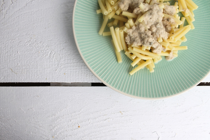 Pasta mit Thunfischsoße