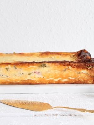 Rhabarberkuchen, Rhabarber-Quarkkuchen, Quarkkuchen