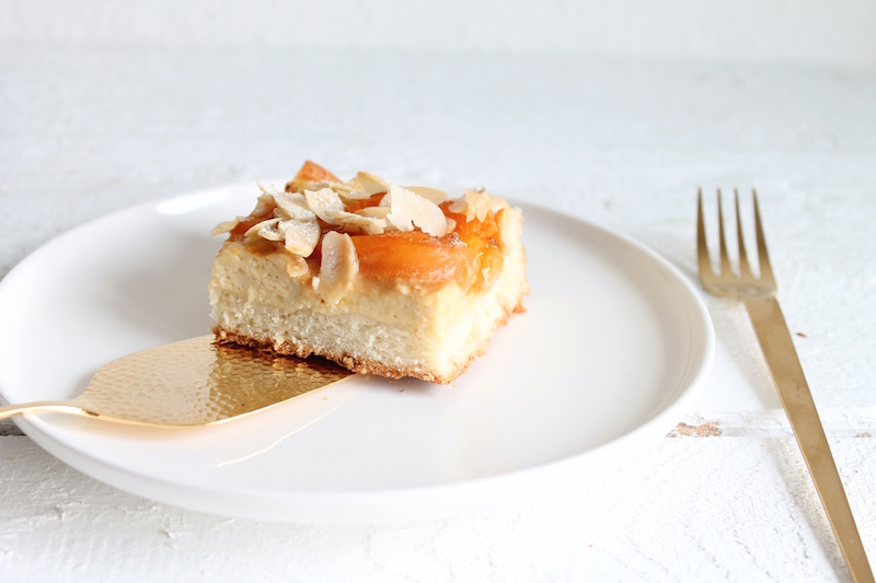 gesunder Aprikosenkuchen, Blechkuchen