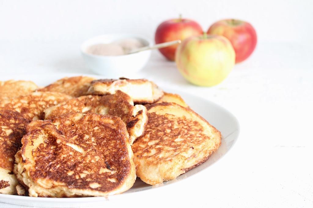 gebackene Apfelküchle ohne zucker