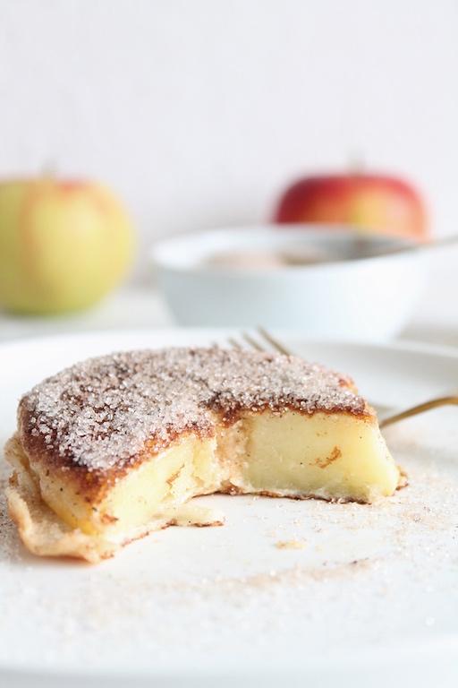 Apfelküchle ohne zucker, gebackene Apfelringe