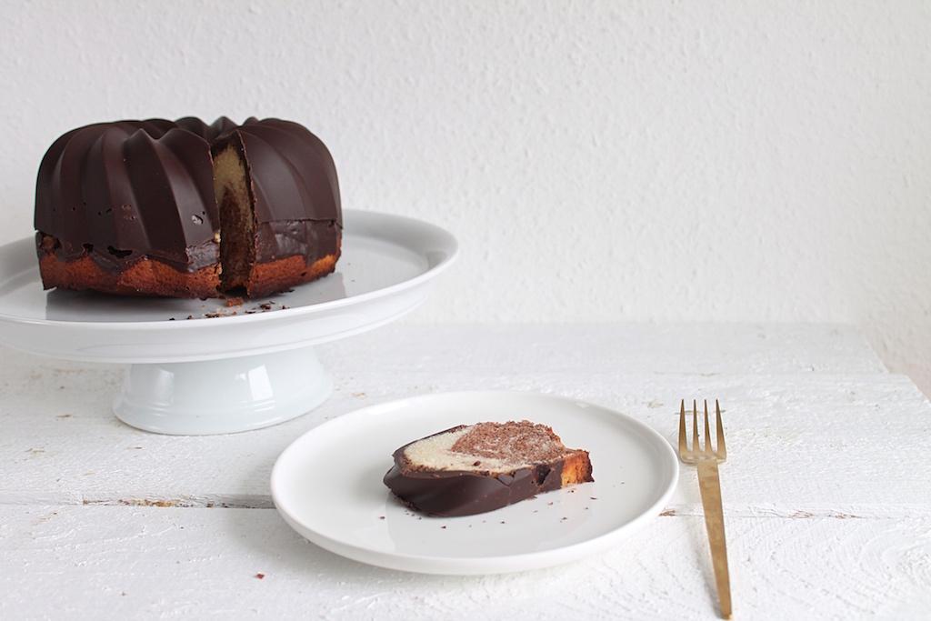 Marmorkuchen ohne Ei
