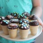 Waffelkuchen, Mini Kuchen in der Waffel, Kindermuffins