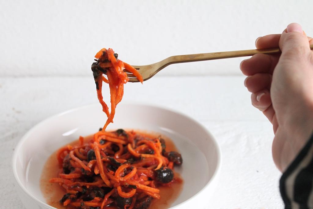Süßkartoffelspaghetti