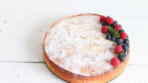 Saftiger Zitronen Ricottakuchen Mit Heidelbeeren Einfache Torta Nua