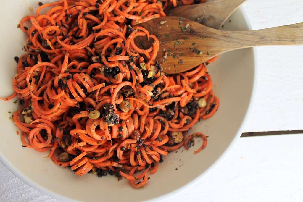 Karottensalat mit Linsen