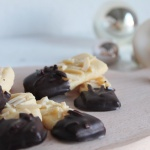 Weihnachtsplätzchen – Mandelstangen mit Schokolade – Mandelplätzchen